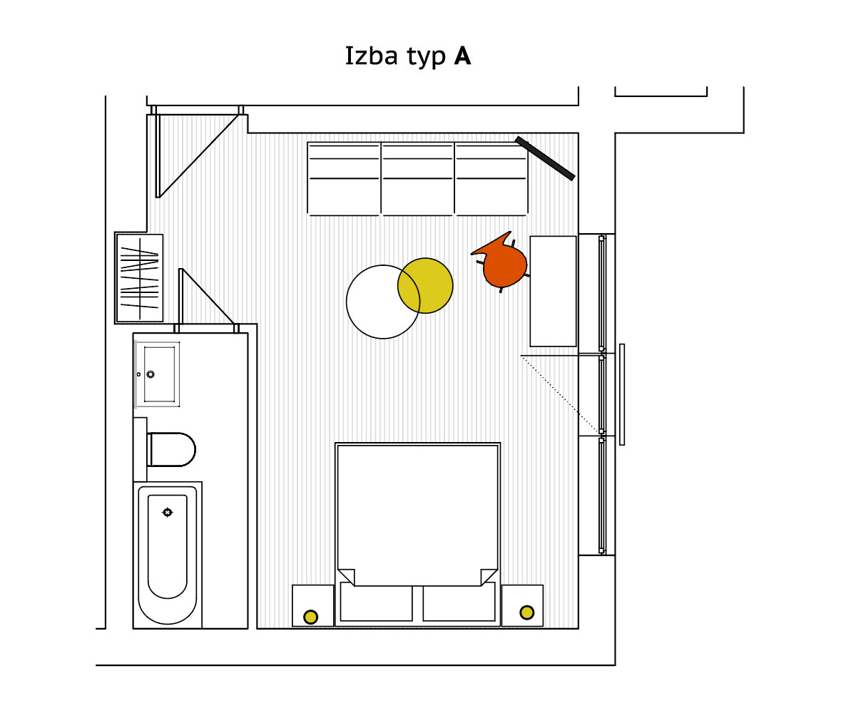 Double room Type A - ground plan